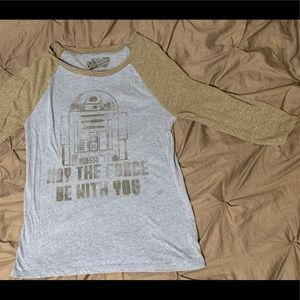 Star Wars R2D2 Tshirt, Blue and Grey Droid